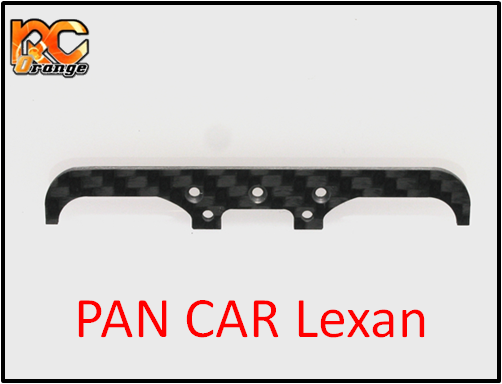PN Racing - 600800CP - Mini-Z Pare-Chocs avant en carbone V2 Pan Car lexan