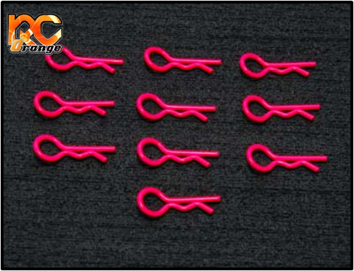 PN RACING - 800100R - 10 Clips pour carrosserie lexan (Rose)
