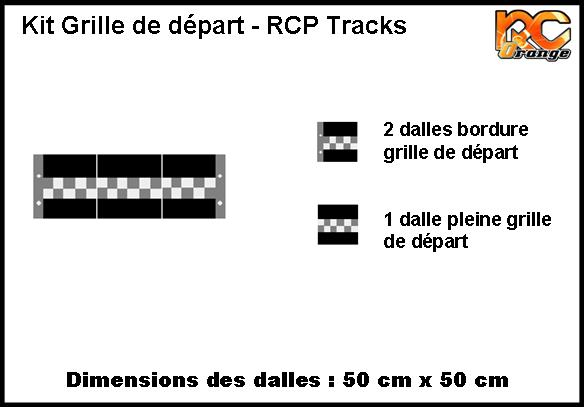 RCP TRACKS - C350XF - KIT GRILLE DE DEPART (3 PIECES)