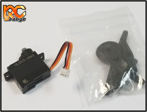 GL RACING - GL003-DMG - servo de direction pour GLR (pignons metal)