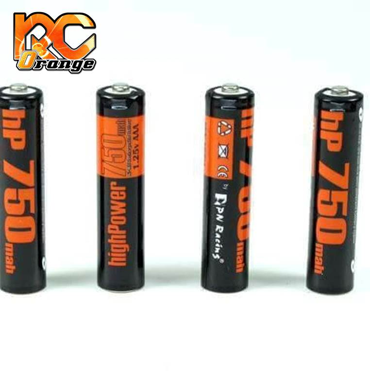 PN RACING - HP750 - Eléments AAA NiMh 750 mah - 4 accus