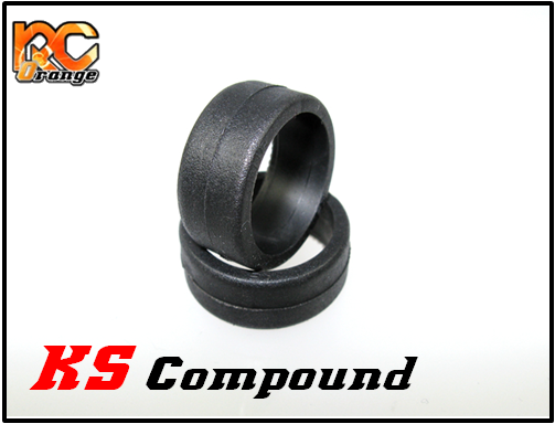 PN RACING - KS1038 - Pneu avant gomme KS Compound Medium pour RCP Track (1 paire)