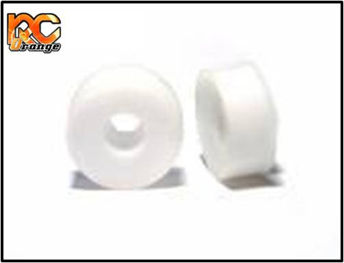 PN RACING - MR2076F - Jante avant pleine en delrin 20 mm - Blanc