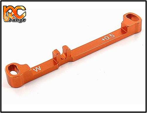 PN RACING - MR3016 - Barre de direction en aluminium wide 0.5° pour MR03