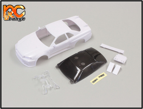 KYOSHO - MZN168 - Carrosserie blanche à peindre - N RM 94mm - NISSAN SKYLINE GT-R R34