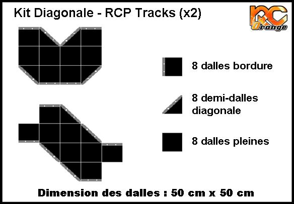RCP TRACKS - C50045 - KIT DIAGONALES (x2)