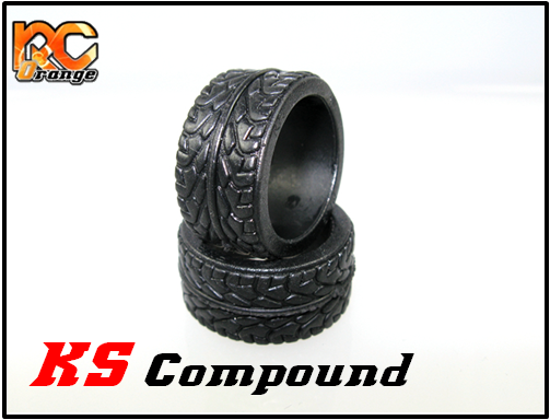 PN RACING - KS2828 - Pneu arrière en gomme KS Compound - Radial - MEDIUM pour RCP Track (1 Paire)
