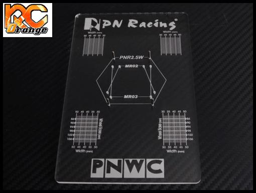 PN RACING 700659 Planche de reglage Mini Z MR02 MR03 PNW2.5 transparente