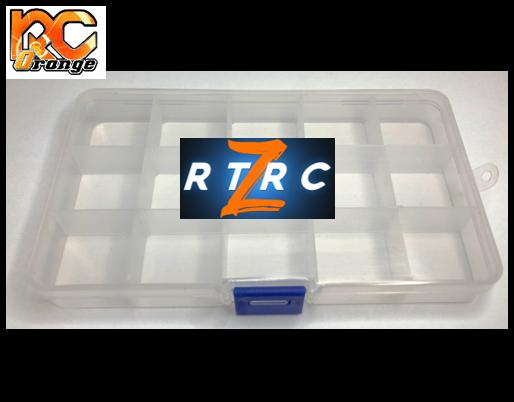 Boite de rangement 15 cases pour les kits flancs RTRC D20 et D19. RT043 1