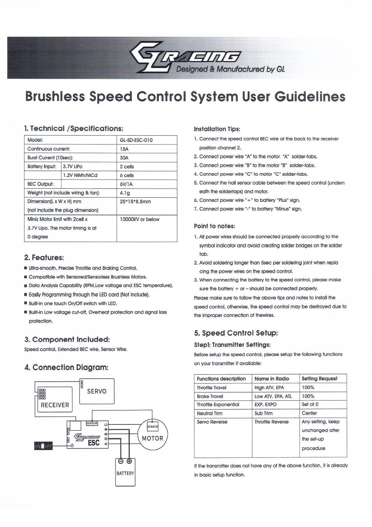 GL SD ESC 010 User Guideline 11