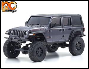 KYOSHO CRAWLER 32521GM Chassis MX 01 4x4 Jeep Wrangler Rubicon avec Radio KT 531P Granite metal mini z 1