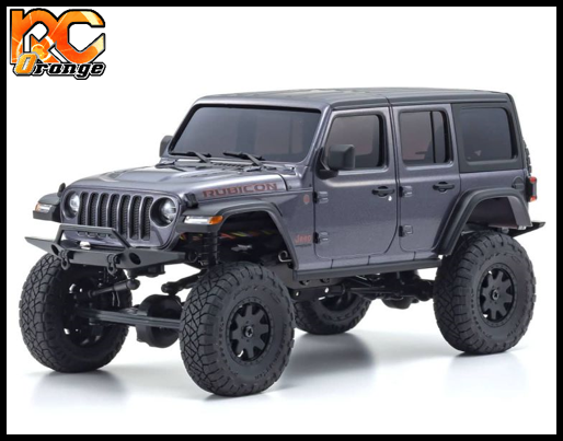 KYOSHO CRAWLER 32521GM Chassis MX 01 4x4 Jeep Wrangler Rubicon avec Radio KT 531P Granite metal mini z 1