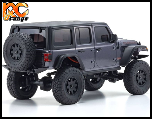 KYOSHO CRAWLER 32521GM Chassis MX 01 4x4 Jeep Wrangler Rubicon avec Radio KT 531P Granite metal mini z 2