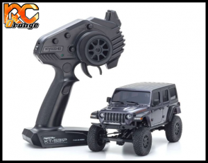 KYOSHO CRAWLER 32521GM Chassis MX 01 4x4 Jeep Wrangler Rubicon avec Radio KT 531P Granite metal mini z