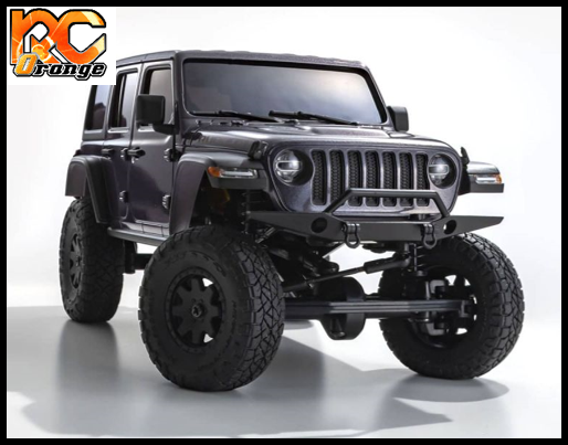 KYOSHO CRAWLER 32521GM Chassis MX 01 4x4 Jeep Wrangler Rubicon avec Radio KT 531P Granite metal mini z 6