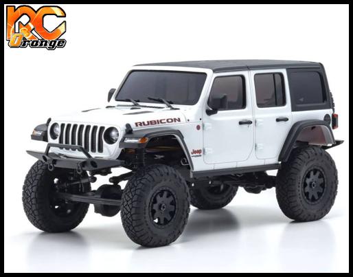 KYOSHO CRAWLER 32521W Chassis MX 01 4x4 Jeep Wrangler Rubicon avec Radio KT 531P Blanc mini z 1
