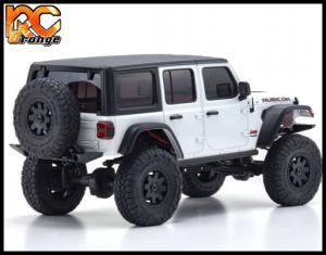KYOSHO CRAWLER 32521W Chassis MX 01 4x4 Jeep Wrangler Rubicon avec Radio KT 531P Blanc mini z 2