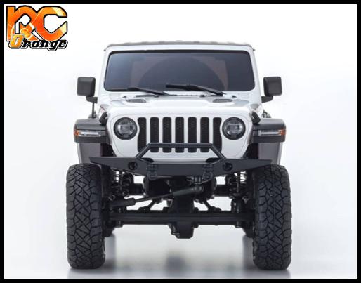 KYOSHO CRAWLER 32521W Chassis MX 01 4x4 Jeep Wrangler Rubicon avec Radio KT 531P Blanc mini z 3