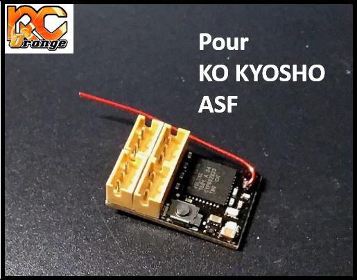 RC ORANGE XRX XR RXKF2 RECEPTEUR Compatible Kopropo et Kyosho ASF 2.4ghz mini format 1