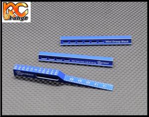 GL RACING GL TS001 Mini Z 1 28 Cale de reglage du drop en aluminium bleu