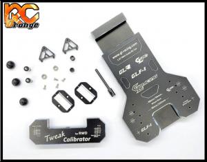 GL RACING GL TS002 GLR GT GLR GLF1 Banc de reglage du Tweak en aluminium noir