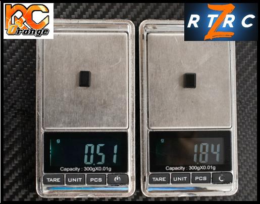 RC ORANGE RTRC – RT083 – Option RTA Bride laiton lames carbone 18gr