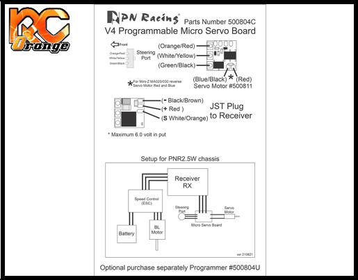 PN RACING 500804C Circuit V4 programmable pour servo de Mini Z et PNR2.5W 1