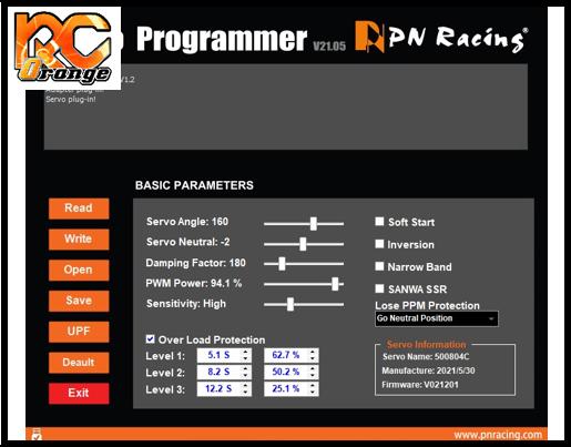 PN RACING 500804U Programmateur USB pour circuit de servo V4 1