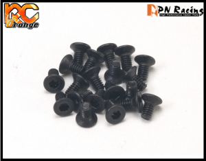 RC ORANGE PN RACING MINI Z 709904 PN Racing M2x4 Countersunk Hardened Carbon Steel Hex Machine Screw 20pcs